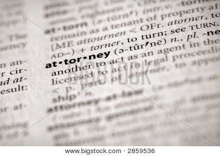 Dictionary Series - Law: Attorney