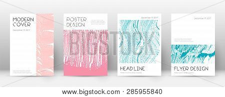 Cover Page Design Template. Minimal Brochure Layout. Charming Trendy Abstract Cover Page. Pink And B
