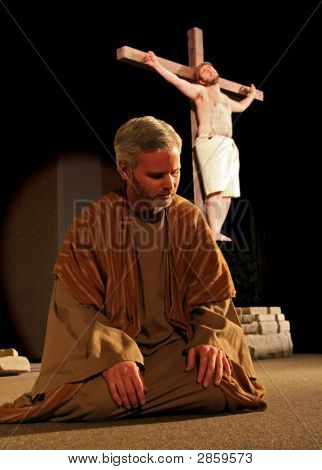 Peter At Jesus Feet