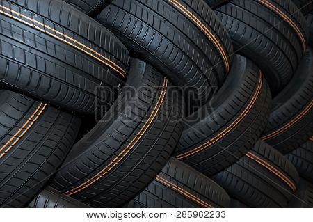Moscow, Russia - January 14, 2019: Winter Car Tyre  Brand  Of The Company Michelin. Michelin Is A Fa