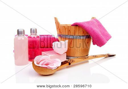 Pink Accessory For Spa Or Sauna