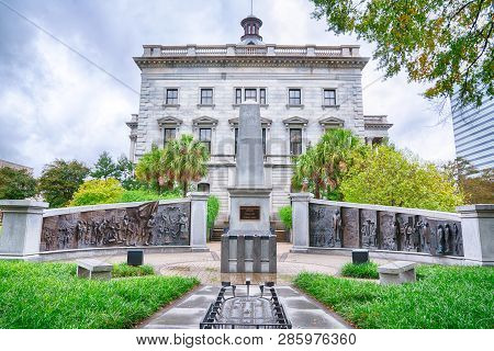 Columbia, Sc - November 2, 2018: South Carolina African American History Monument Of The Grounds Of
