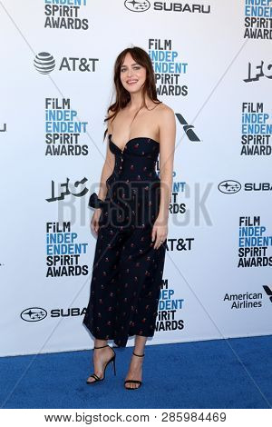 LOS ANGELES - FEB 23:  Dakota Johnson at the 2019 Film Independent Spirit Awards on the Beach on February 23, 2019 in Santa Monica, CA