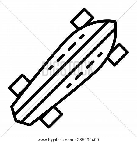 Lifestyle Skateboard Icon. Outline Lifestyle Skateboard Vector Icon For Web Design Isolated On White