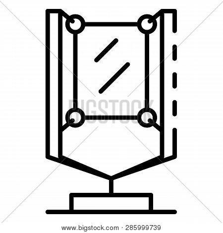 Urban Lightbox Icon. Outline Urban Lightbox Vector Icon For Web Design Isolated On White Background