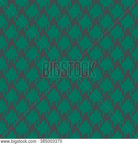 Green And Gray Houndstooth Background Set In A Slanted Diagonal Print For Design Elements In 12x12 G