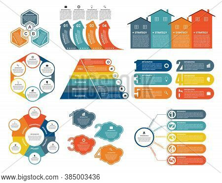 Collection Infographics. Design Elements. Infographics For Business Presentations Or Information Ban