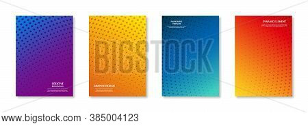 Graphic Minimal Cover Design. Creative Background, Trendy Template, Dynamic Element Halftone Dots, C