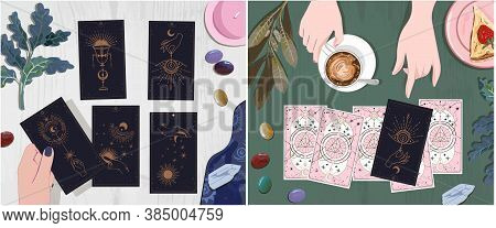 Set A Good Tarot Session Pointing The Guest's Finger To The Arcana Of Fate, The Answers To Which You