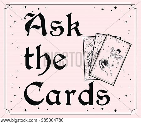 Vintage Inspired Ask The Cards Tarot Card, Altar Cloth, Divination Tool, Witchcraft, Witch Gift, Gif