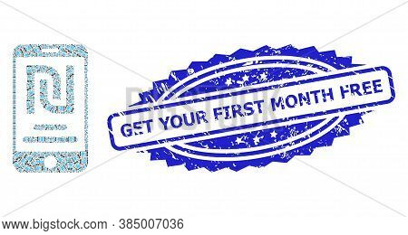 Get Your First Month Free Grunge Seal Imitation And Vector Recursion Mosaic Shekel Mobile Account. B