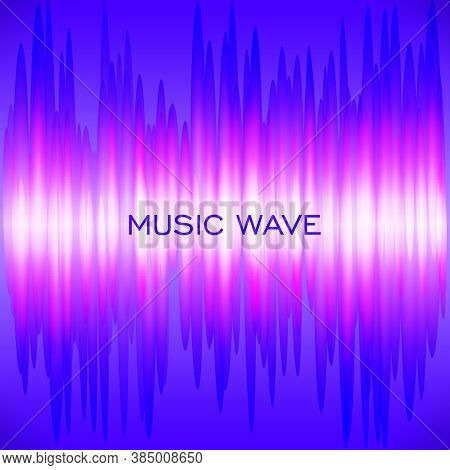 Abstract Colorful Wave Music Background. Vector Neon Waveform Equalizer. Audio Track Sound Frequency