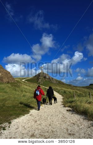 On Ynys Llanddwyn an Island off Newborough Forest the Isle of Anglesey Wales poster