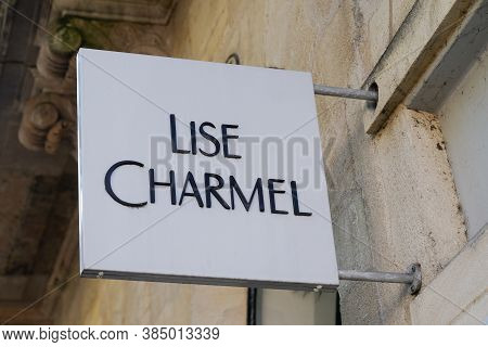 Bordeaux , Aquitaine / France - 09 01 2020 : Lise Charmel Sign And Text Logo Lingerie Of Store Of Wo