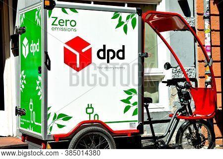 Heidelberg/bavaria, Germany - June 24, 2020:  Dpd Zero Germany, Inner-city Electric Delivery Cargo B