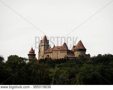Medieval Castle Burg Kreuzenstein In Leobendorf Near Vienna, Lower Austria