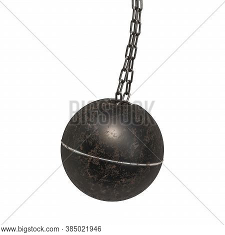 Wrecking Ball, 3d Rendering Isolated On White Background