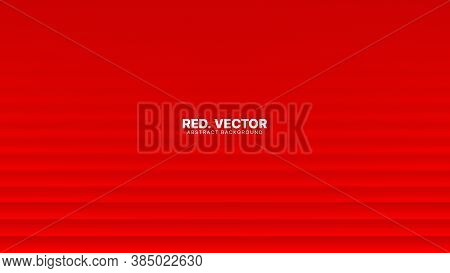 3d Vector Smooth Lines Deep Red Blurred Abstract Background. Luxury Gala Ceremonial Elegant Decorati