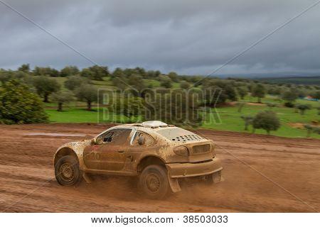 Portalegre, Portugal - November 3: Fernando Andre Drives A Renault Megane Proto In Baja 500, Integra