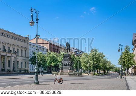 Berlin, Germany -  May 29, 2020: Unter Den Linden Boulevard In The Central Mitte District Of Berlin