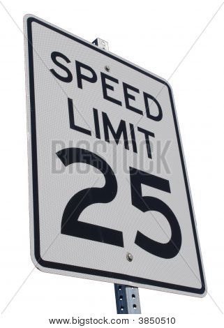 Speed Limit 25Mph