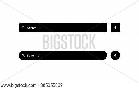 Set Of Search Bar Icon Vector In Trendy Style Isolated On White Background. Website Box Symbol Illus