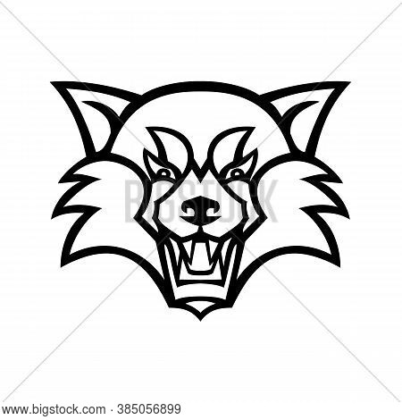 Mascot Illustration Of Head Of An Angry Red Panda, The Lesser Panda, Red Bear-cat, Or The Red Cat-be