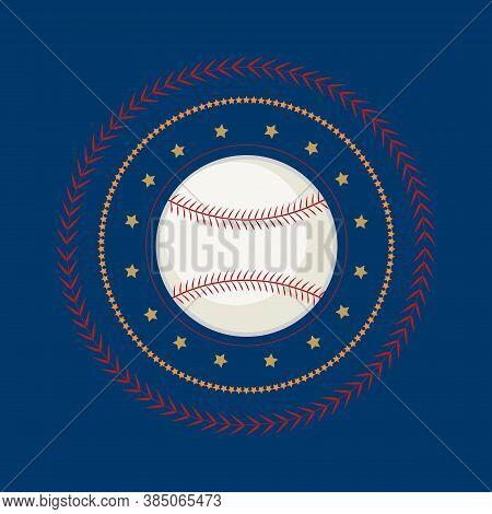 Baseball Icon Vector Flat Illustration. Baseball Club Logo. Baseball Emblem. The Symbol Of A Basebal