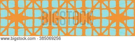 Japanese Tie Dye Seamless Pattern. Bohemian Kimono Textile. Deco Arc Shell Texture Artistic Shibori