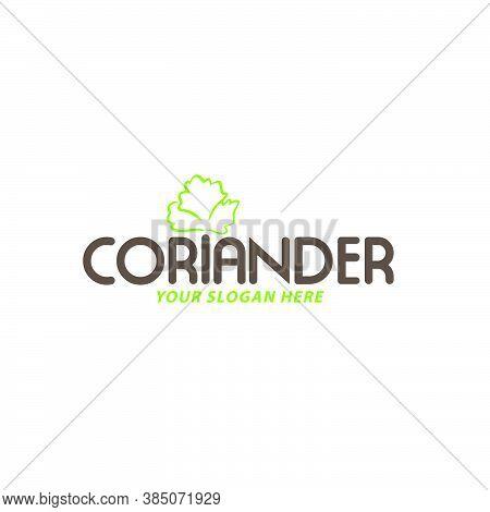 Creative And Fresh Coriander Logo Design Vector
