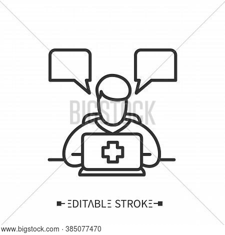 Medical Consultant Icon. Online Medical Consultation. Medical Advice. Medical Internet Forum. Family
