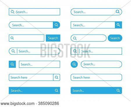 Search Bar Set . Vector Illustration Isolated On White Background. Www Search Bar Icon For Web Site,