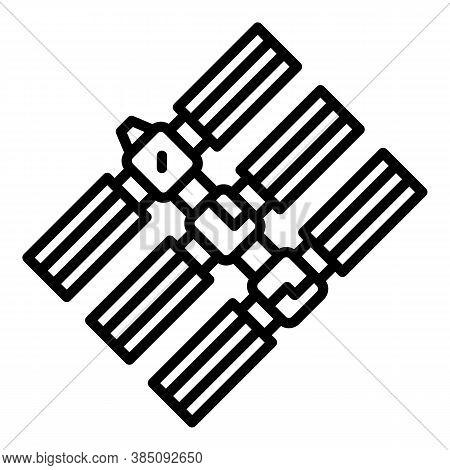 Space Station Base Icon. Outline Space Station Base Vector Icon For Web Design Isolated On White Bac