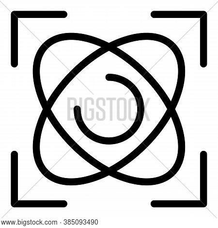 Physics Gyroscope Icon. Outline Physics Gyroscope Vector Icon For Web Design Isolated On White Backg