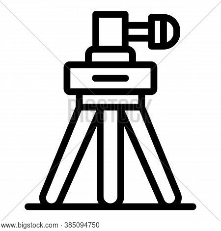 Video Tripod Icon. Outline Video Tripod Vector Icon For Web Design Isolated On White Background