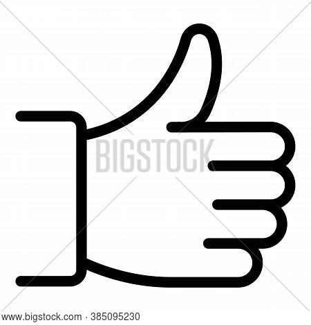 Thumb Up Standard Icon. Outline Thumb Up Standard Vector Icon For Web Design Isolated On White Backg