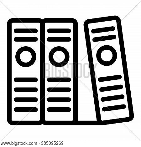 Certificate Standard Folders Icon. Outline Certificate Standard Folders Vector Icon For Web Design I