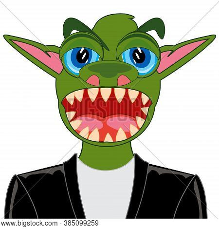 Portrait Of The Green Crock In Suit