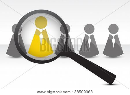 Searching For Talent Concept