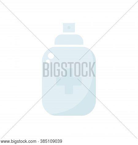 Antiseptic Spray Blue Icon. Antiseptic Outline Bottle Vector Illustration Isolated On White Backgrou