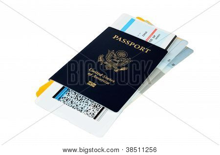 Us Passport With Boarding Passes