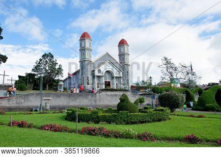 Zarcero, Costa Rica - November 23, 2015: The Francisco Alvardo Park With Its Famous Topiary And The