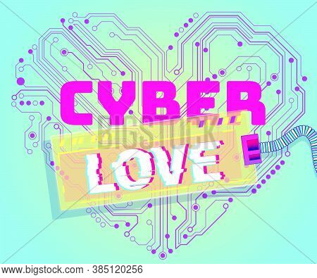 Electronic Heart-shaped Valentine Cyber Technology