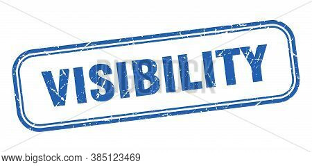 Visibility Stamp. Visibility Square Grunge Blue Sign