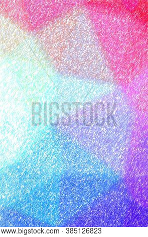 Abstract Illustration Of Blue And Red Low Coverage Color Pencil Background.