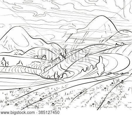 Illustration Of South East Asia Countryside-13.eps
