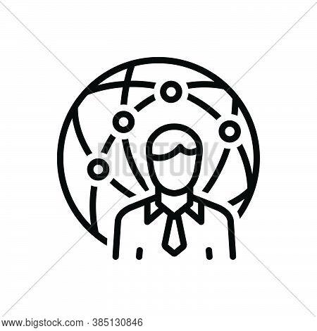 Black Line Icon For Representative Delegate Attorney Proxy Agent Negotiator
