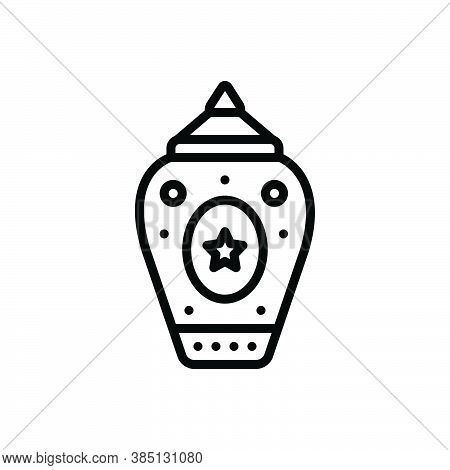 Black Line Icon For Modern New Recent Vernal Latest Current Modernized Stylish Jar Pot