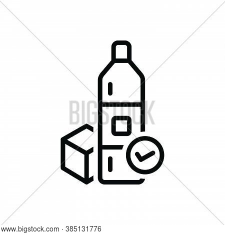 Black Line Icon For Available Accessible Applicable Achievable Convenient Product Ready-for-use In-s
