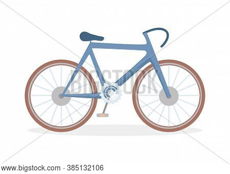 Classic Bicycle Vector Flat Illustration Isolated On White Background. Full-suspension Mountain Bike